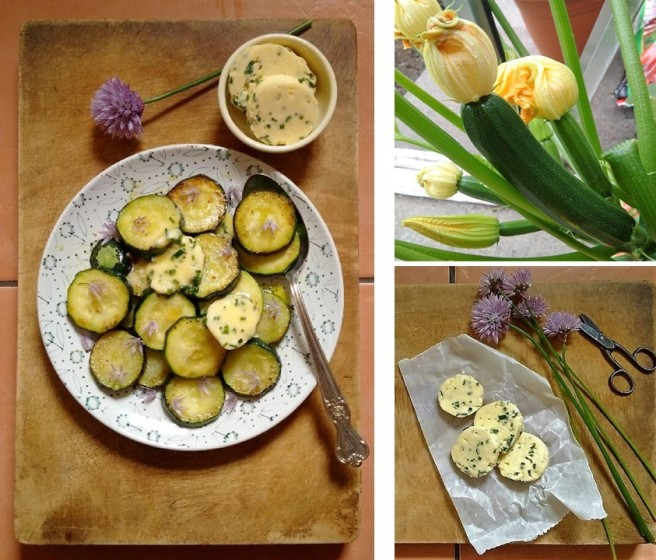 homegrown_Tristar_courgette_with_homemade_chive_butter