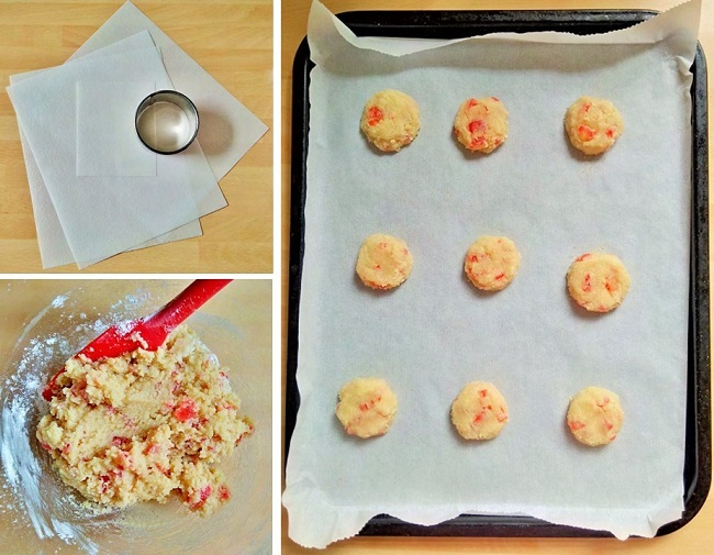 Edible_paper,_amaretti_dough_and_shaped_cookies