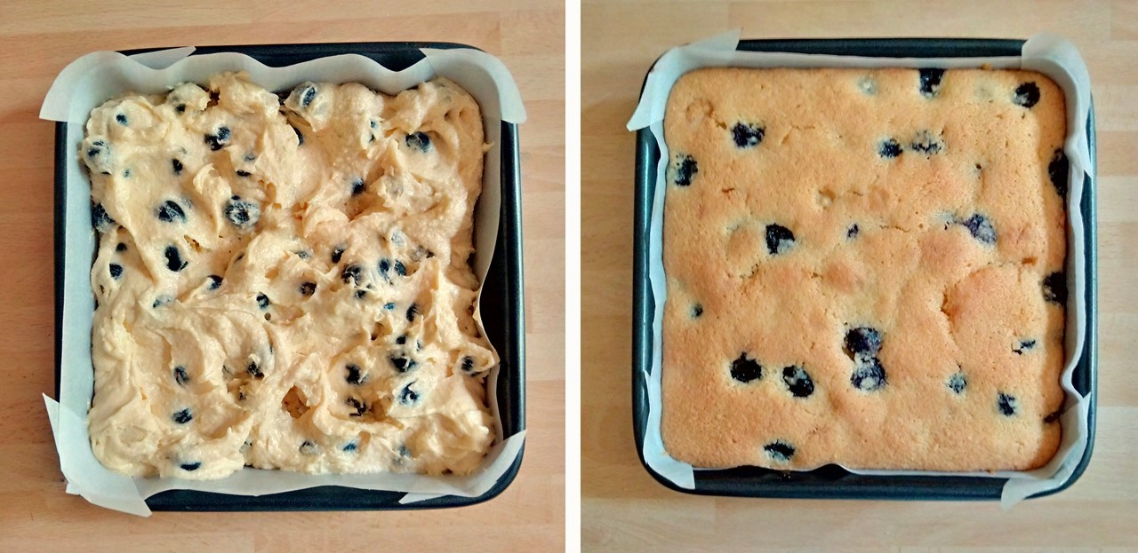Ready_to_bake_and_fresh_out_of_the_oven_blueberry_and_marzipan_cake