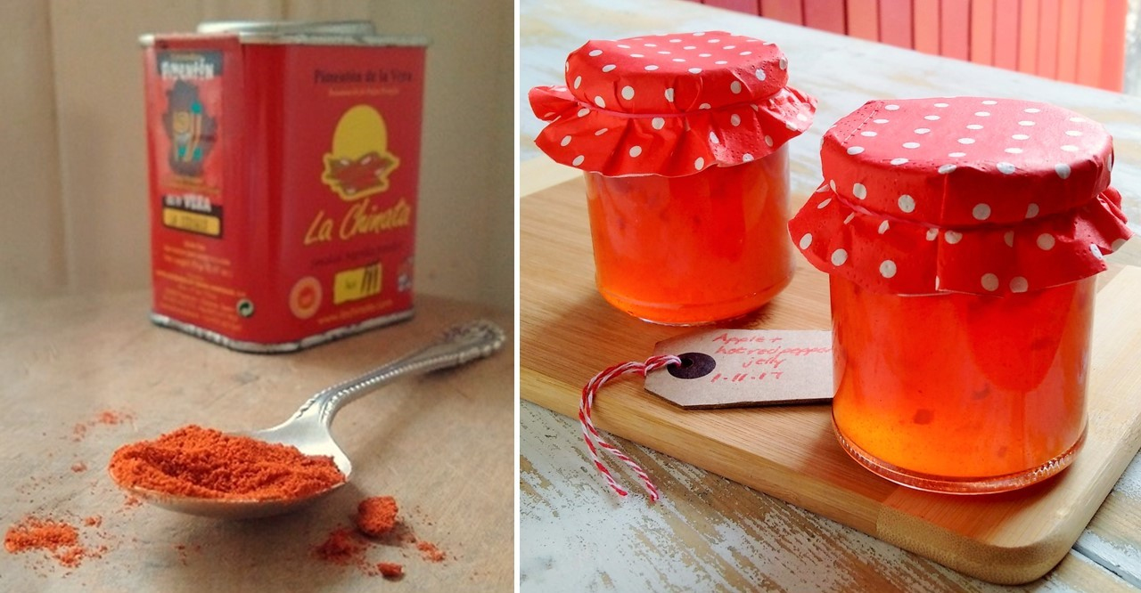 Small_tin_of_hot_smoked_paprika_spice_with_2_jars_of_homemade_apple_and_hot_red_pepper_jelly