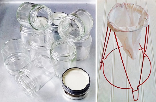 Recycling_jam_jars_and_lids_with_Jelly_strainer