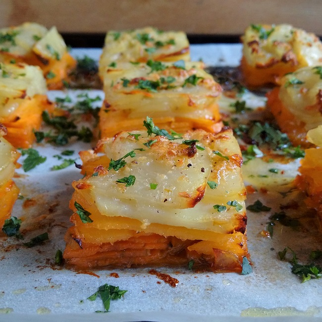 Layers_of_sweet_potato_turnip_(swede)_and_potatoes_baked_and_cut_into_squares