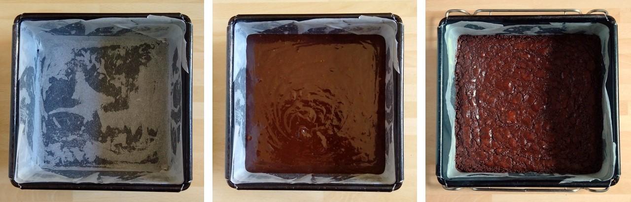 Baking_tin_to_raw_mixture_to_cooked_mixture_vegan_chocolate_brownie