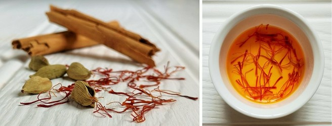 Cinnamon_sticks_cardamom_pods_and_saffron_for_flavouring_rice