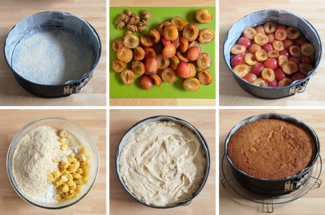 Step_by_step_images_for_making_upside_down_cake