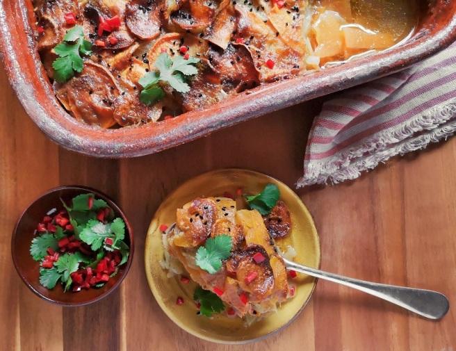 Swede_sweet_potato_and_potato_baked_dauphinoise-style