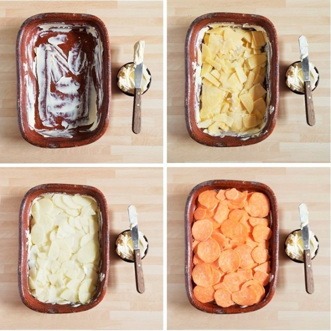 Layering_sliced_root_vegetables_for_dauphinoise