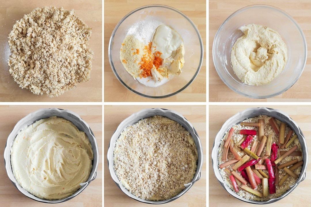 Assembling_rhubarb_and_orange_streusel_cake
