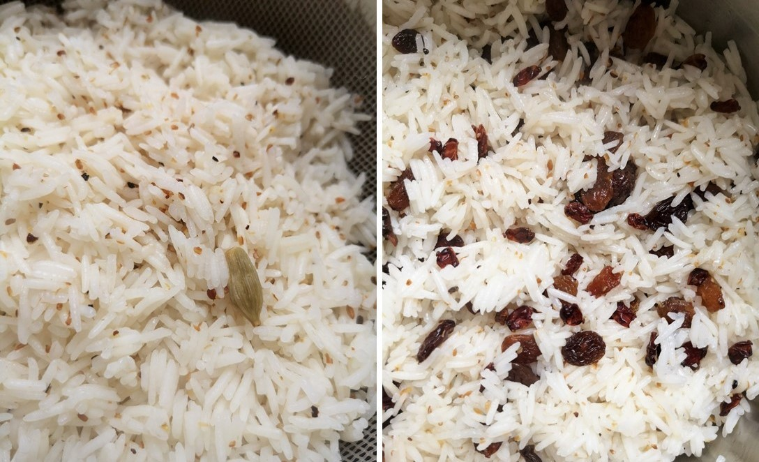 Par-cooking_spiced_basmati_rice