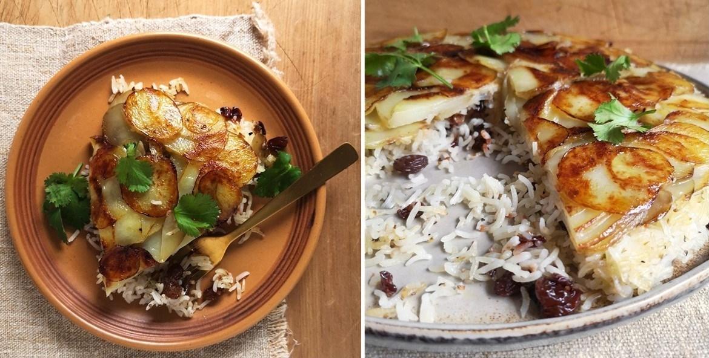 Potato_pilau_cake_sliced_into_wedges