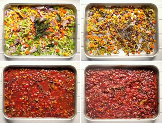 4_steps_in_cooking_oven-baked_vegetable_pasta_sauce