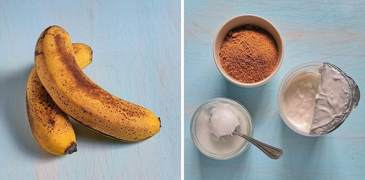 Ripe_bananas_coconut_oil_coconut_sugar_coconut_yogurt
