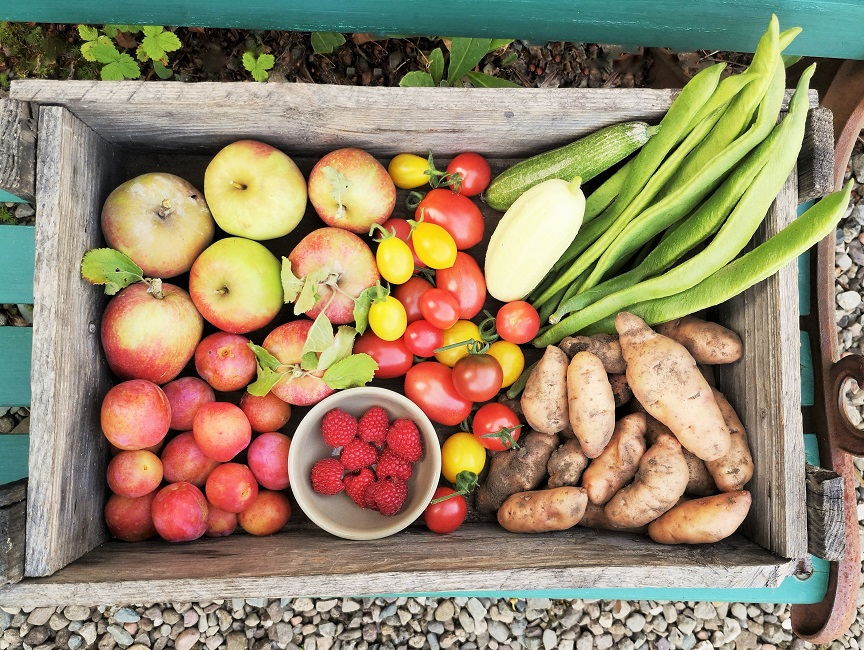 Wooden_crate_full_of_home-grown_September_harvested_produce