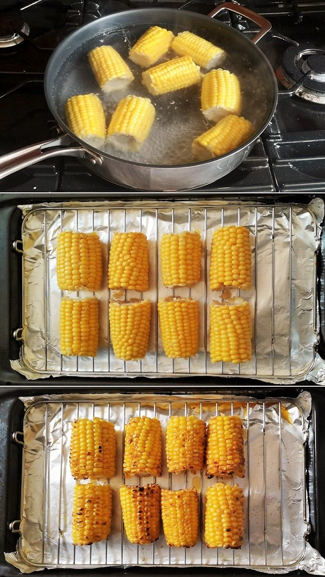 Boiling_and_grilling_sweetcorn_ready_for_salsa