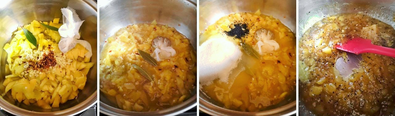 4_cooking_stages_in_making_mango_chutney