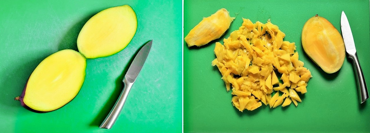 2_images_showing_how_to_prepare_fresh_mango