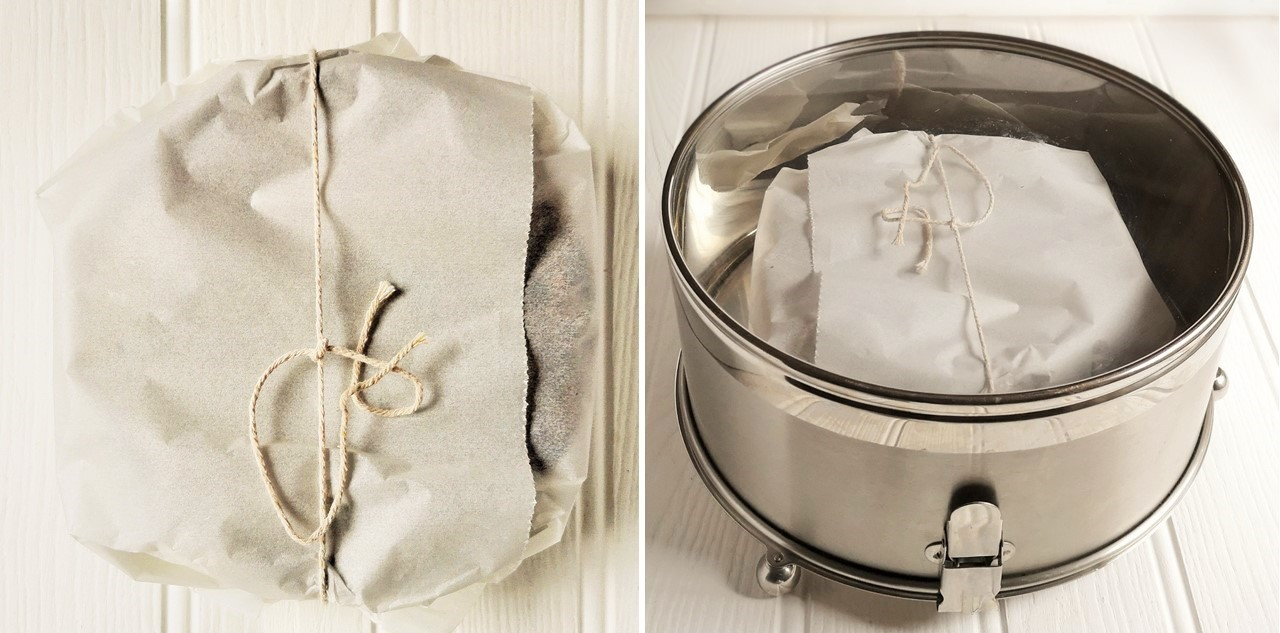 Fuit_cake_wrapped_in_paper_and_stored_in_air-tight_tin