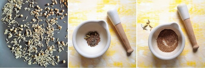 Toasting_cumin_and_coriander_seeds_and_making_a_spice_mix