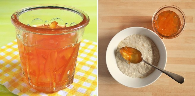 Adding_a_generous_spoonful_of_homemade_Seville_orange_marmalade_to_oatmeal_porridge