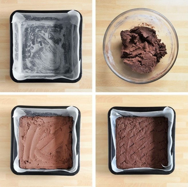 4_steps_to_making_chocolate_shortbread_base