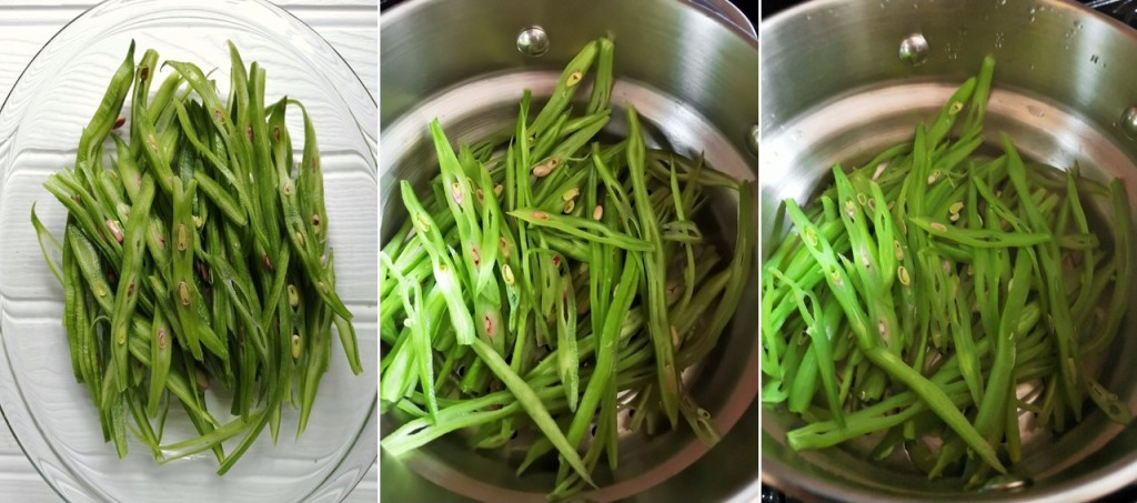 Freshly_sliced_raw_and_steamed_runner_beans