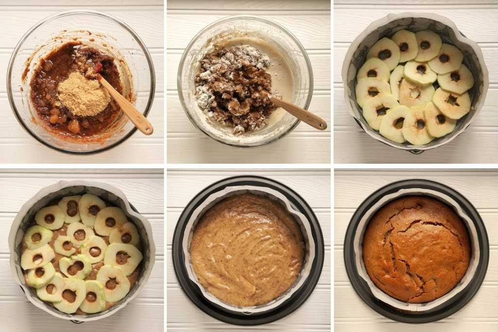 6-steps_to_assembling_toffee_apple_upside_down_cake