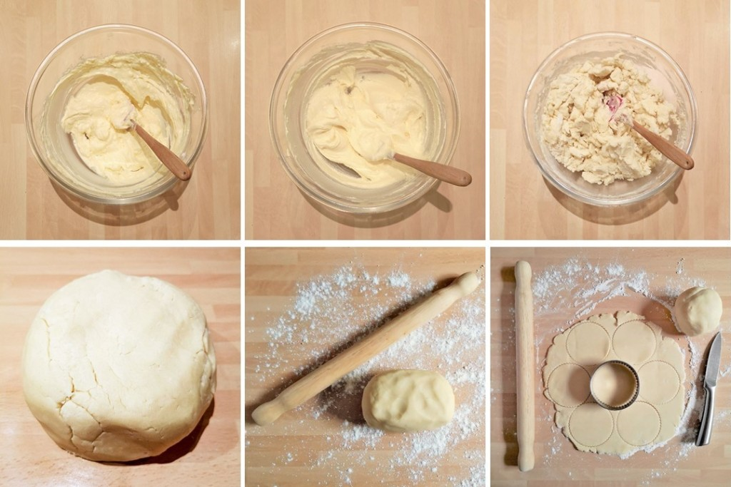 6_steps_showing_making_rolling_and_shaping_of_sweet_shortcrust_pastry