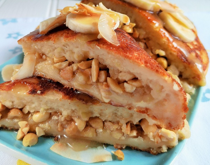 Close-up_on_peanut-filled_crumpet-style_pancake_wedges