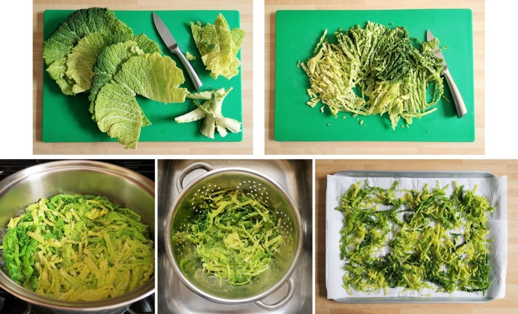 Steps_showing_the_preparation_of_Savoy_cabbage_before_deep_frying