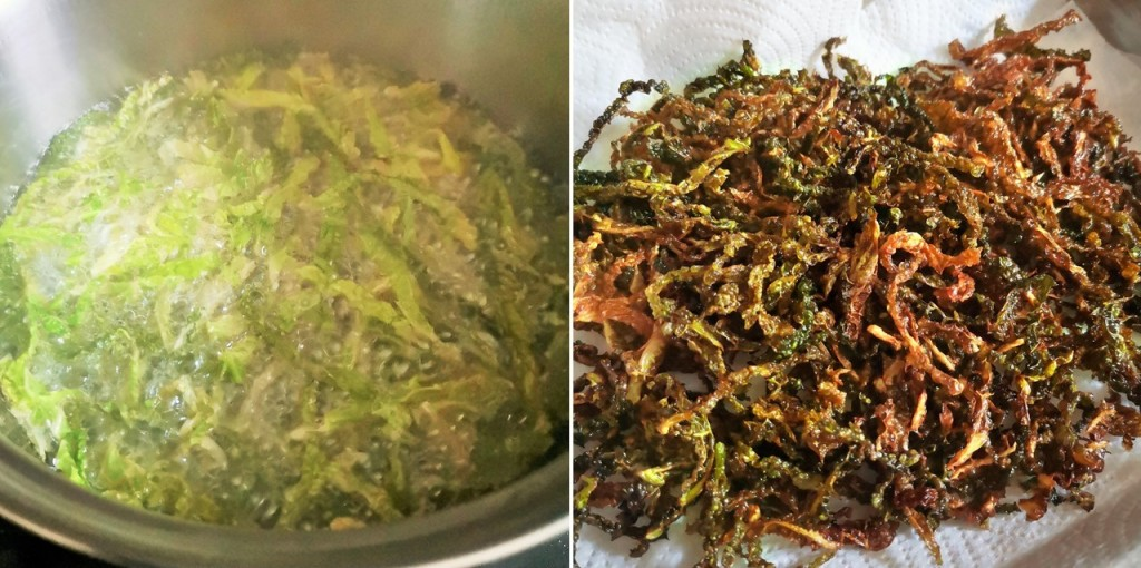 Deep_frying_and_deep_fried_Savoy_cabbage
