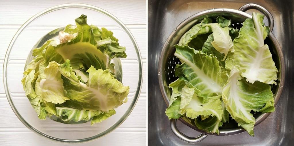 Cauliflower_leaves_soaking_in_water