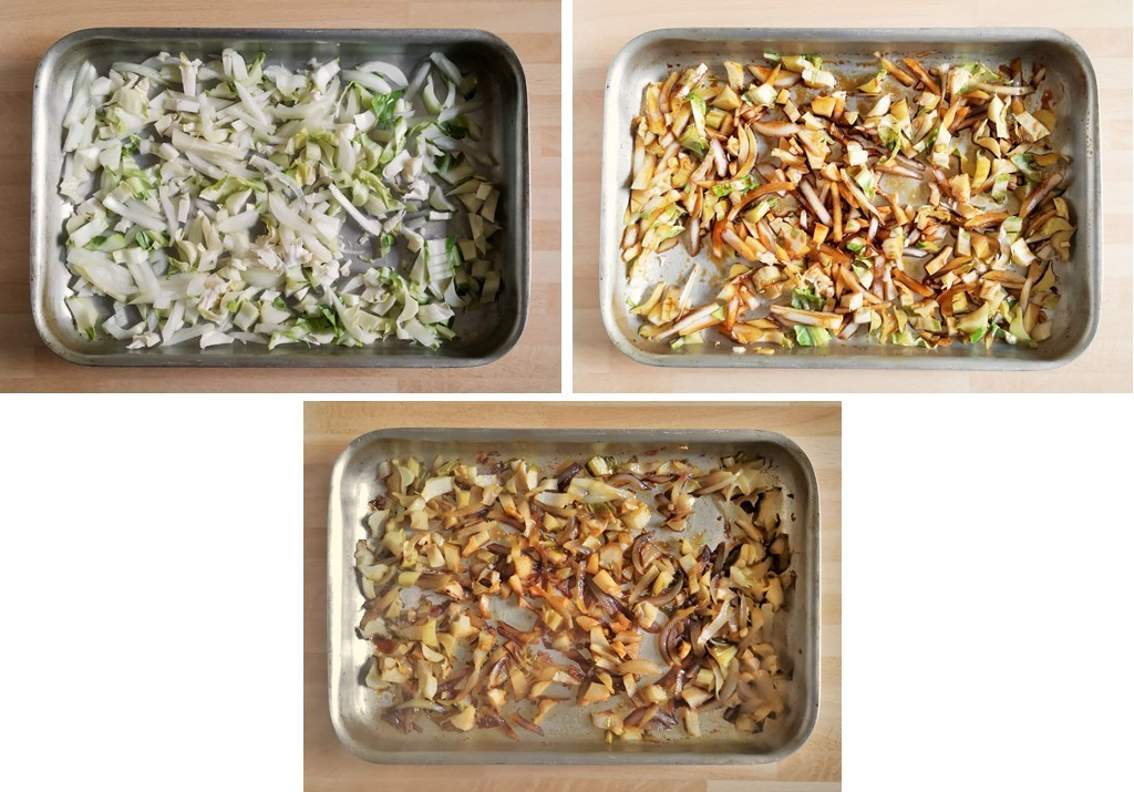 3_images_ showing_the_cooking_stages_of_cauliflower_stalks_with_soy_and_maple