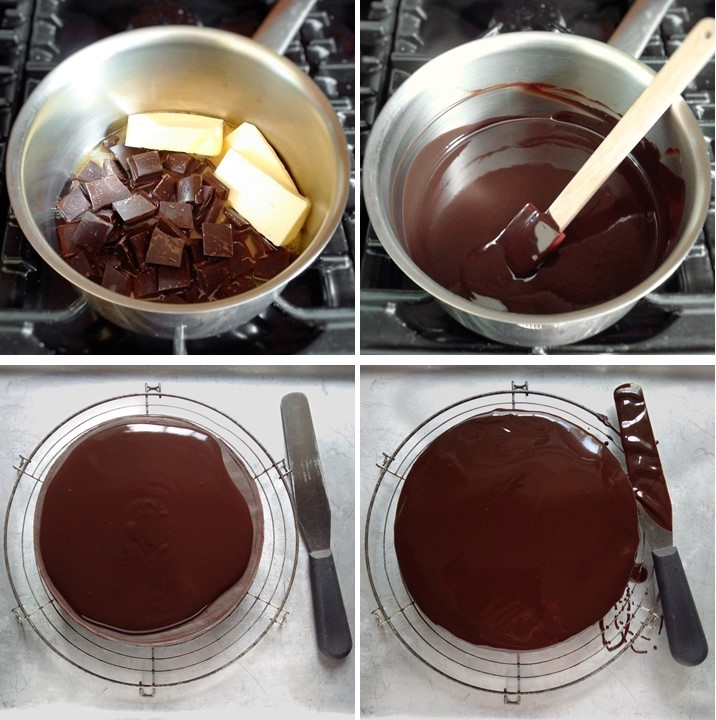 4_steps_showing_making_and_using_chocolate_ganache