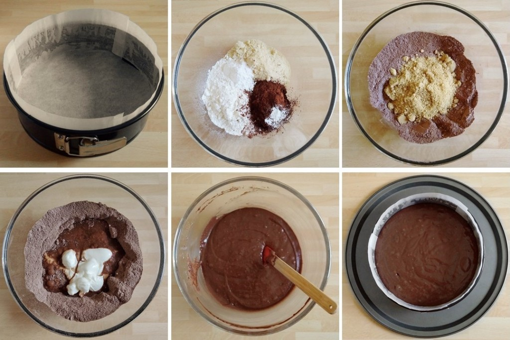 Steps_1_to_6_making_Easter_chocolate_cake_with_unusual_ingredient