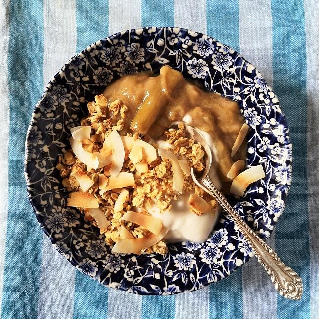 Cereal_bowl_of_granola_with_coconut_yogurt_and_homemade_rhubarb_and_banana_compote