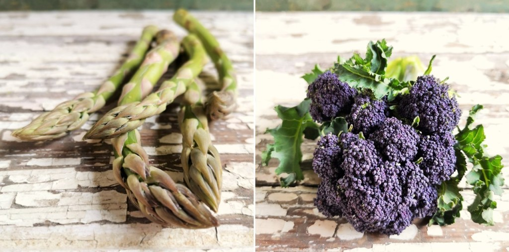 Close-up_on_British_asparagus_stems_and_a_head_of_purple_sprouting_broccoli