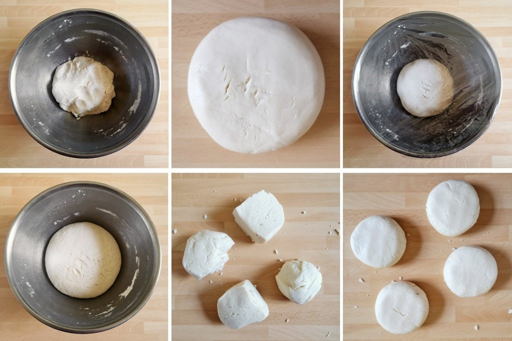 6_steps_showing_shaping_gluten_free_steamed_sesame_buns